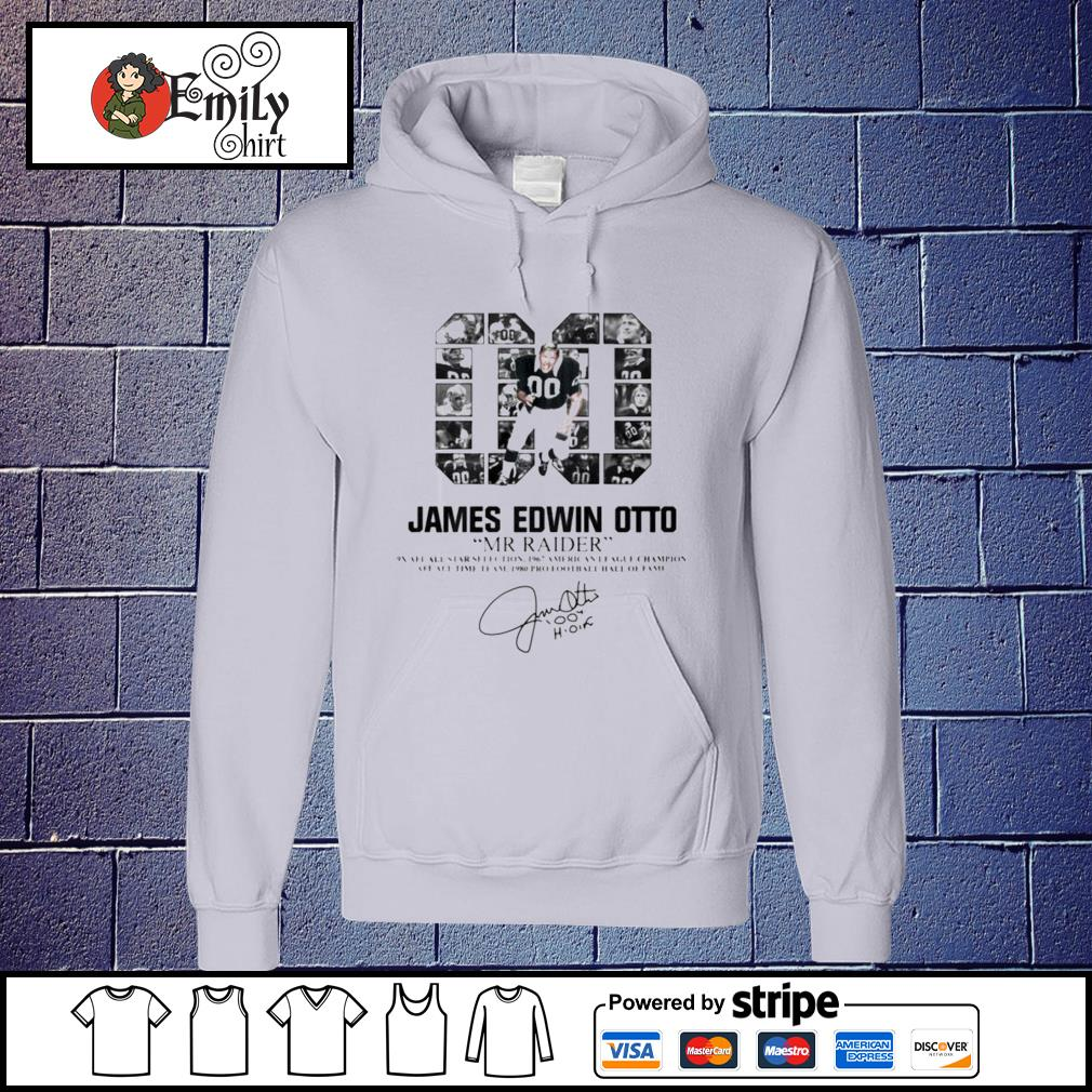 00 James Edwin Otto Mr Raider signature Hoodie
