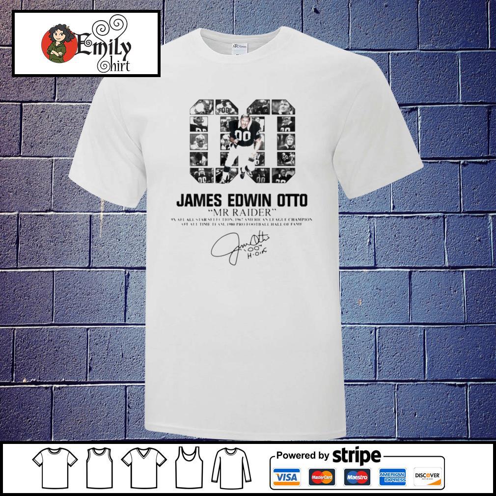 00 James Edwin Otto Mr Raider signature shirt