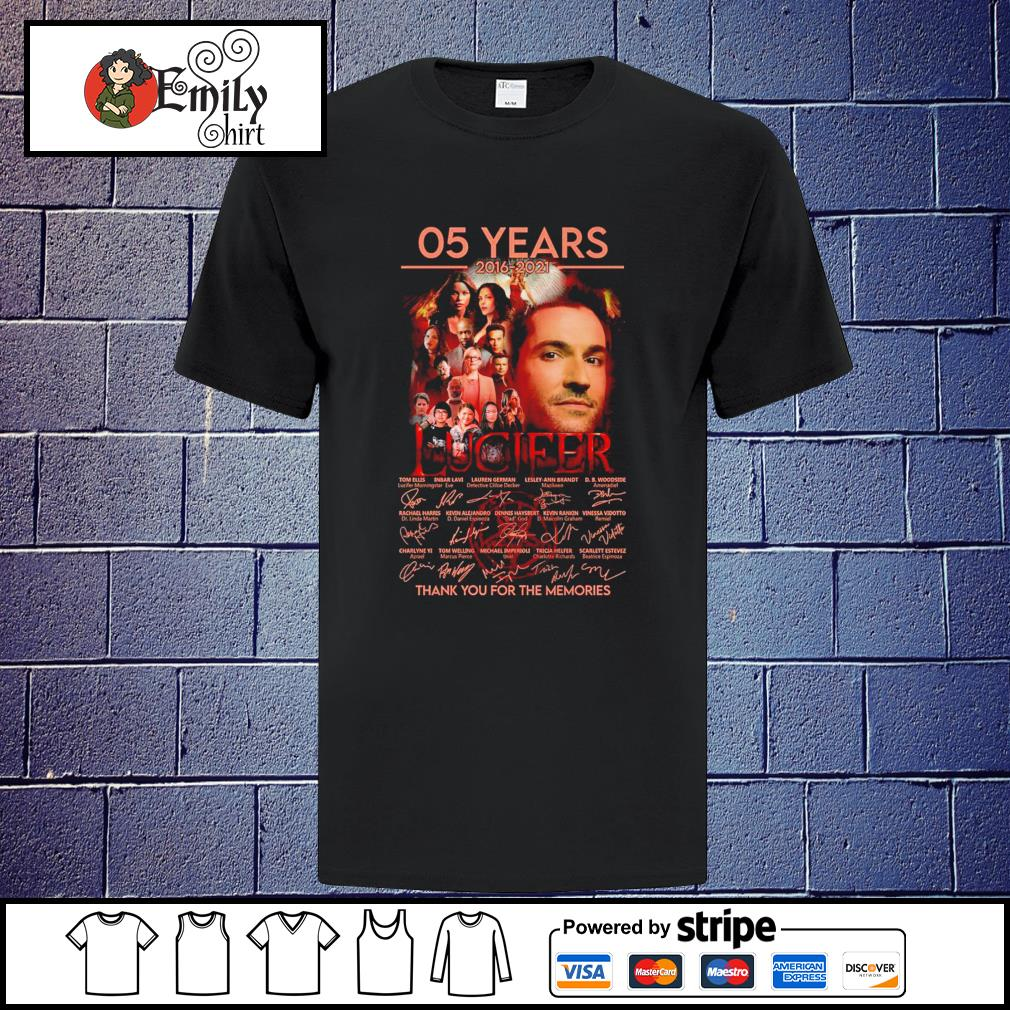 05 Years 2016-2021 Lucifer thank you for the memories signatures shirt