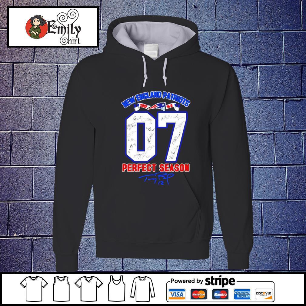 07 Tom Brady New England Patriots perfect season signature Hoodie