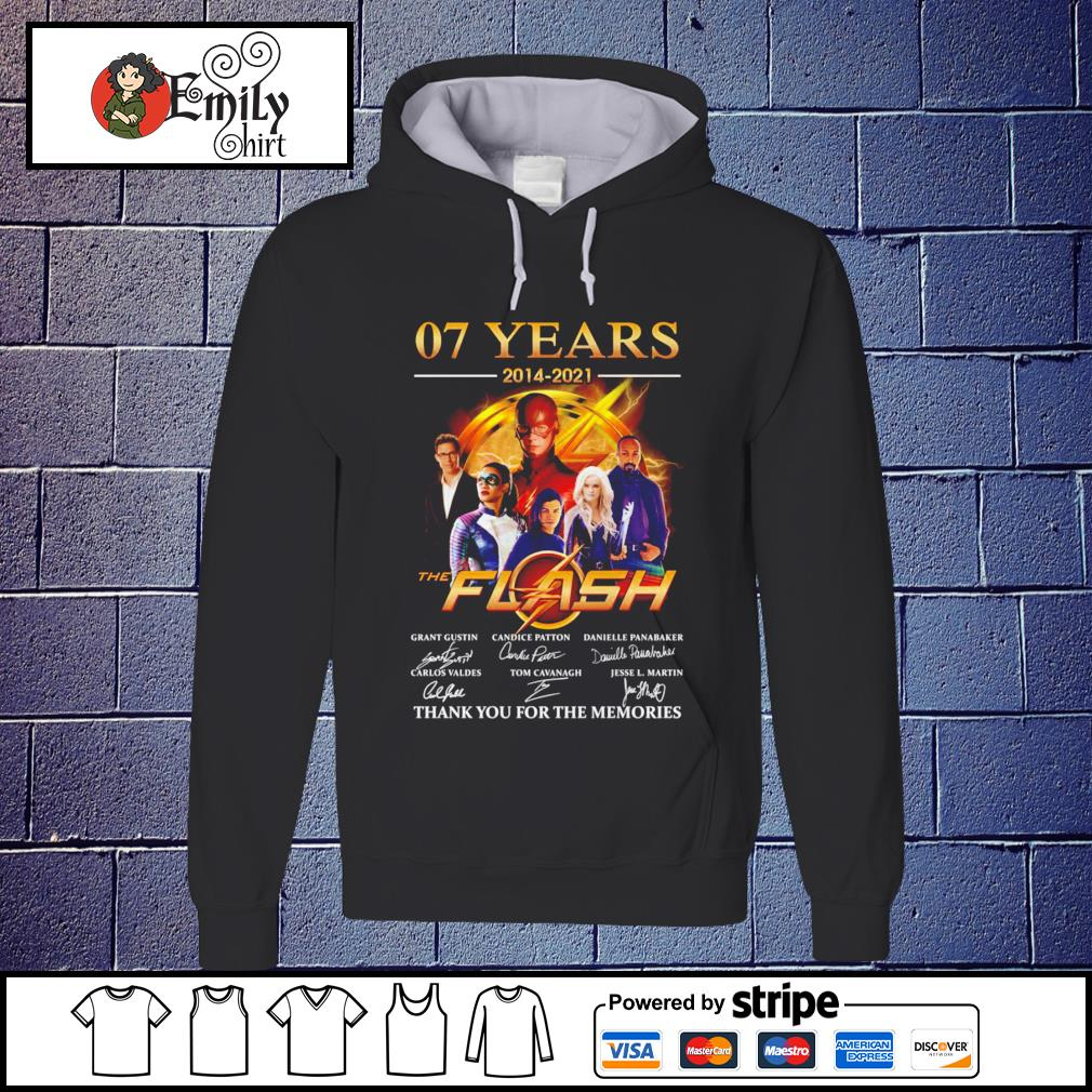 07 Years 2014-2021 The Flash signatures Hoodie