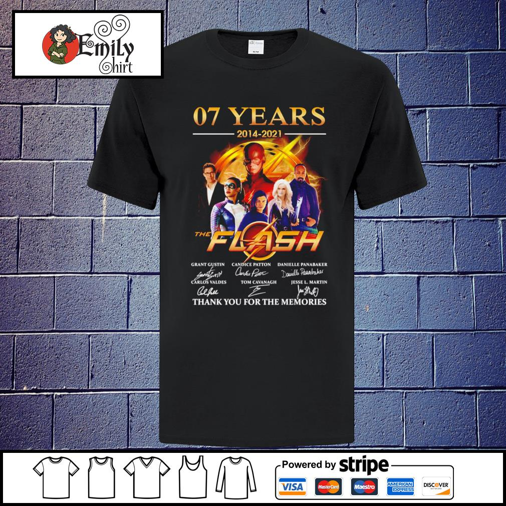 07 Years 2014-2021 The Flash signatures shirt