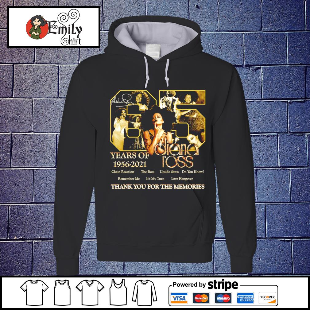 65 years of 1956-2021 Diana Ross signatures s Hoodie