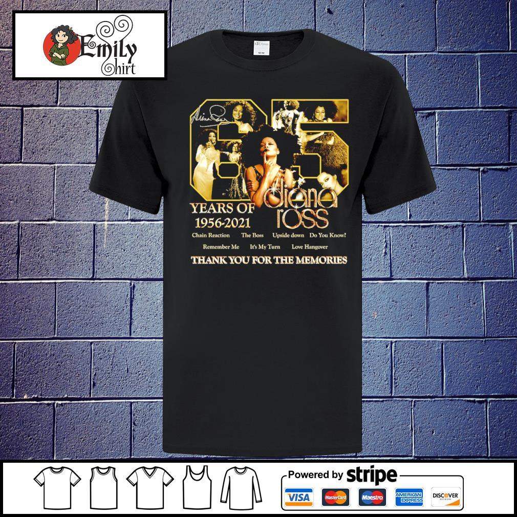 65 years of 1956-2021 Diana Ross signatures shirt