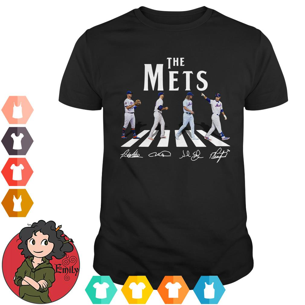 Abbey Road The Mets signatures shirt