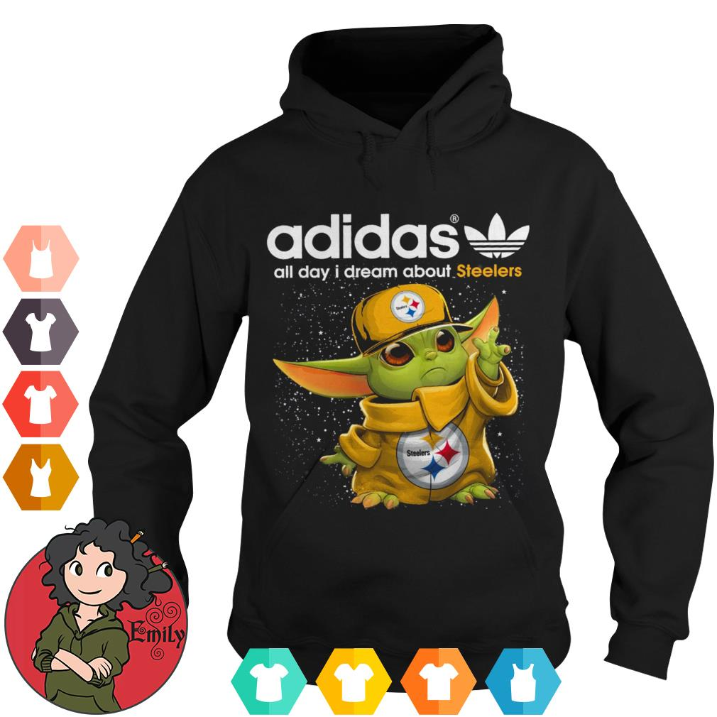 Adidas all day I dream about 49ers baby Yoda Hoodie