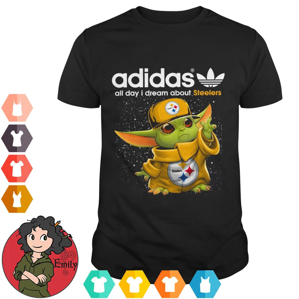 Adidas all day I dream about 49ers baby Yoda shirt
