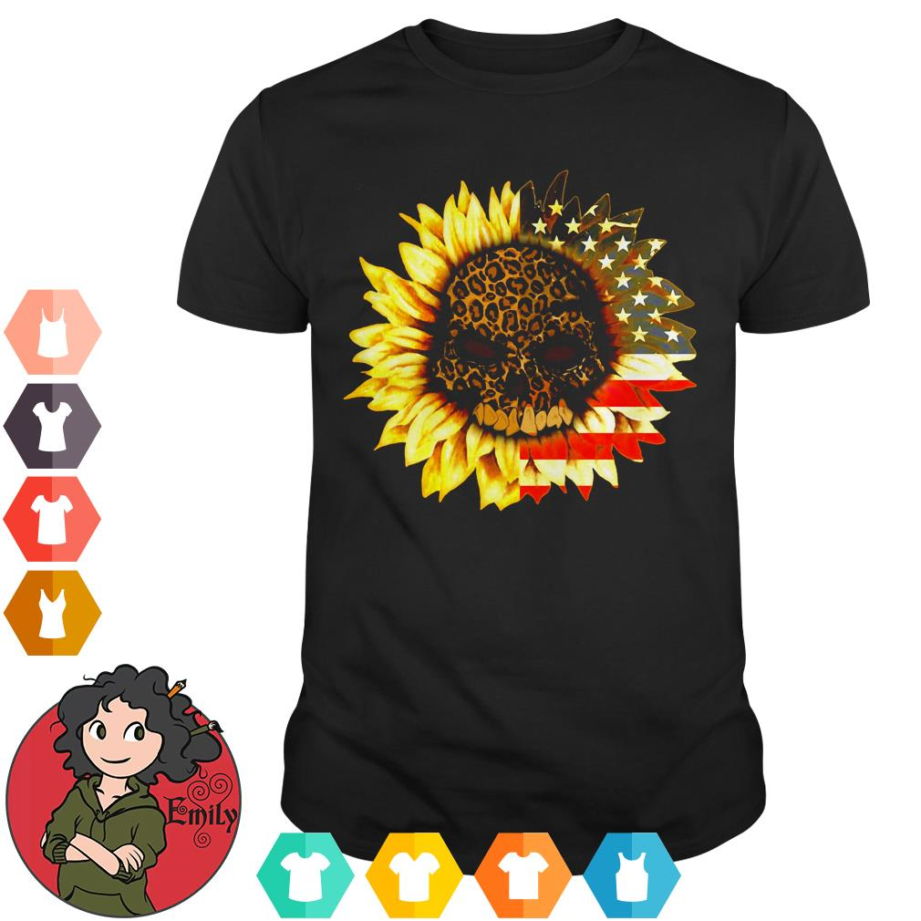 American Sunflower Skull shirt