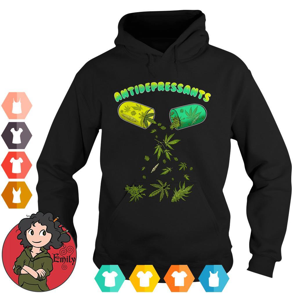 Cannabis weed antidepressants Hoodie