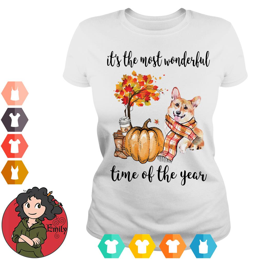 Corgi it's the most wonderful time of the year Ladies tee