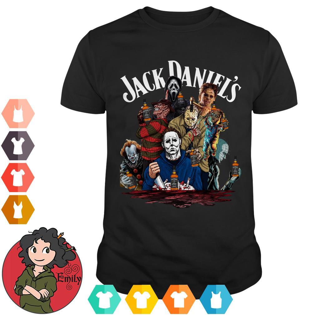 Jack Daniel's horror characters movies shirt