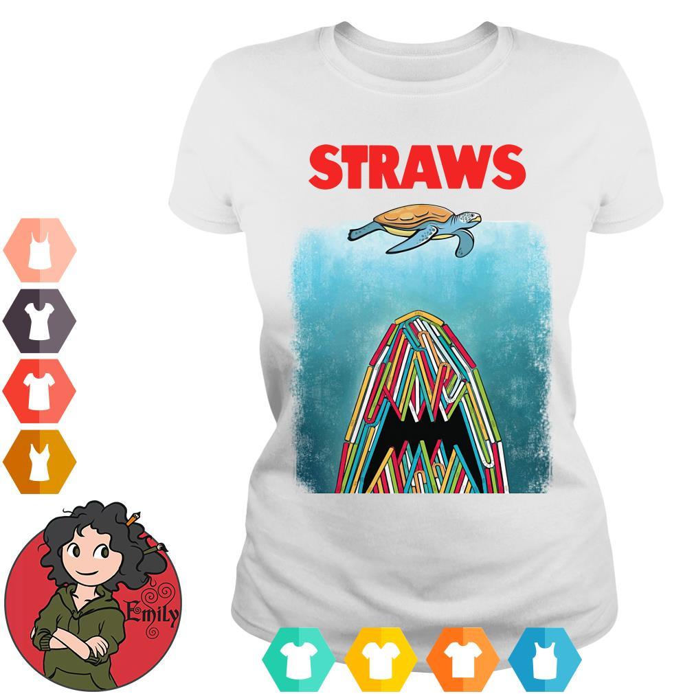 Plastic straws Ladies tee