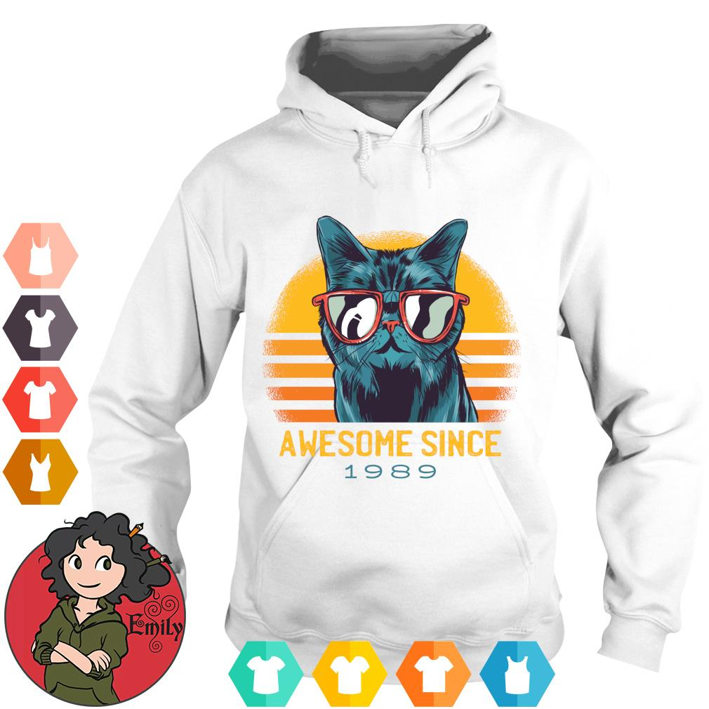 Vintage cats awesome since 1989 s Hoodie