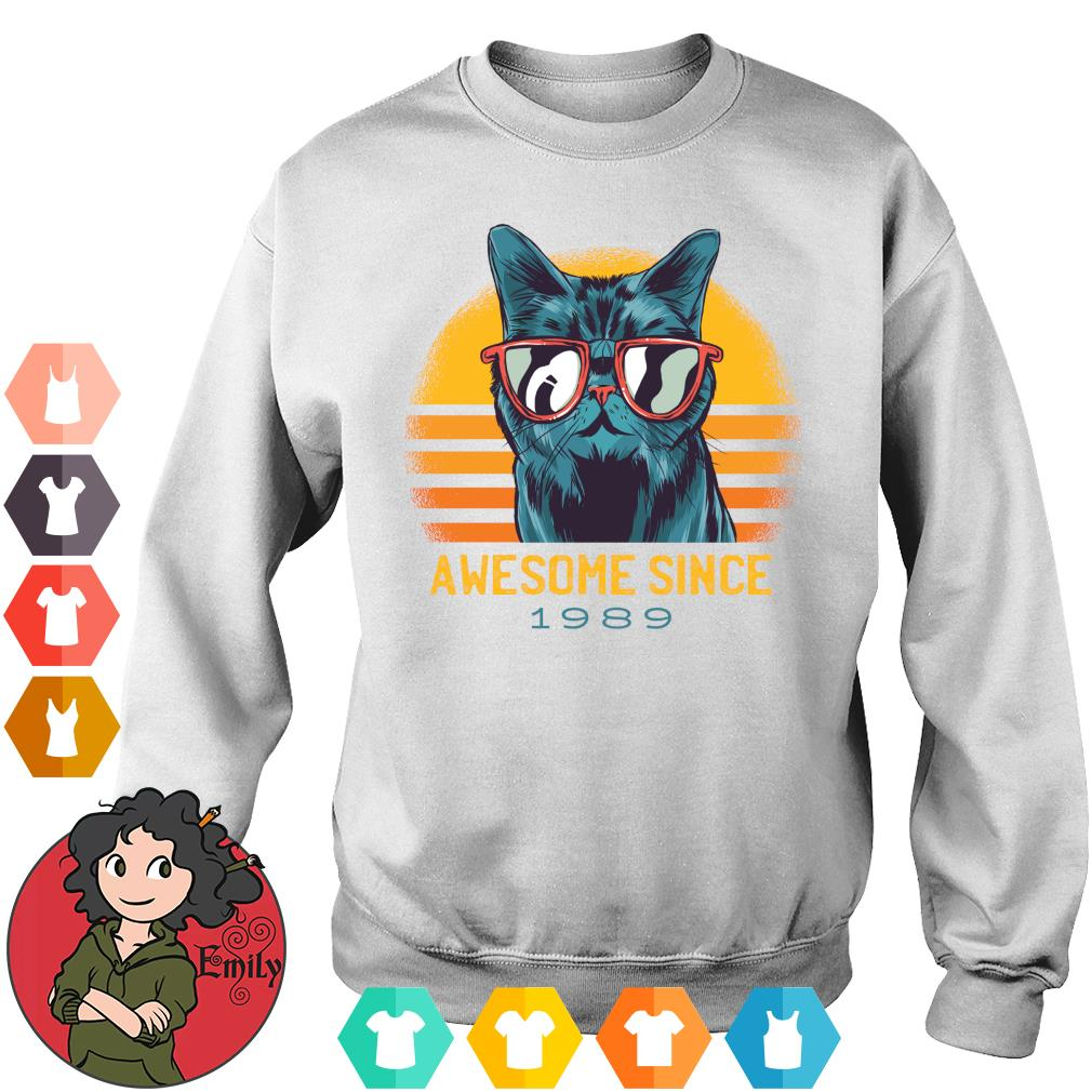 Vintage cats awesome since 1989 s Sweater